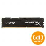 Kingston HyperX Fury Series Memory 8GB 1600MHz Black DDR3