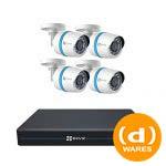 CS-TB-EU 8CH 1080p PoE NVR + 4 1080p PoE Bullet IP Cameras